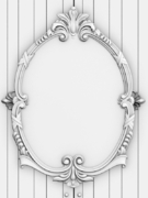 wood carving mirror